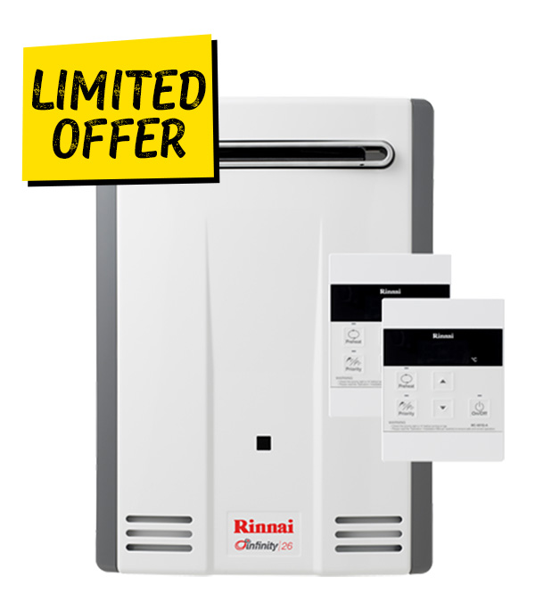 Rinnai Infinity 26 Gas Continuous Hot Water Hot Water Special Offer