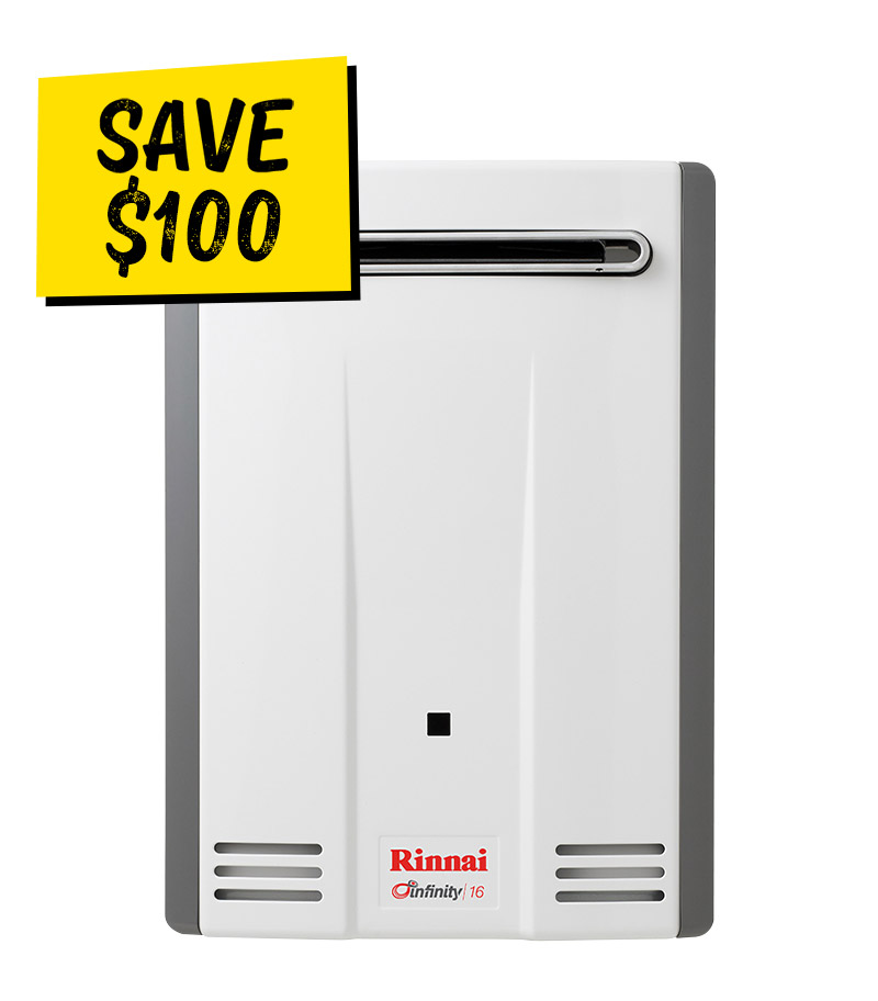 Rinnai Infinity 16 L Continuous Flow Hot Water Special Offer