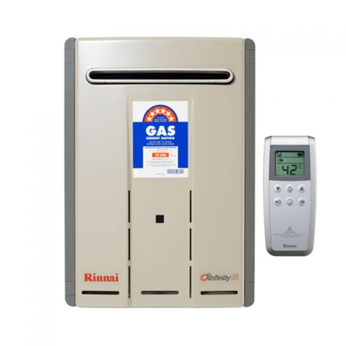 Rinnai Infinity 26 Touch Continuous Flow Gas Hot Water System Adelaide