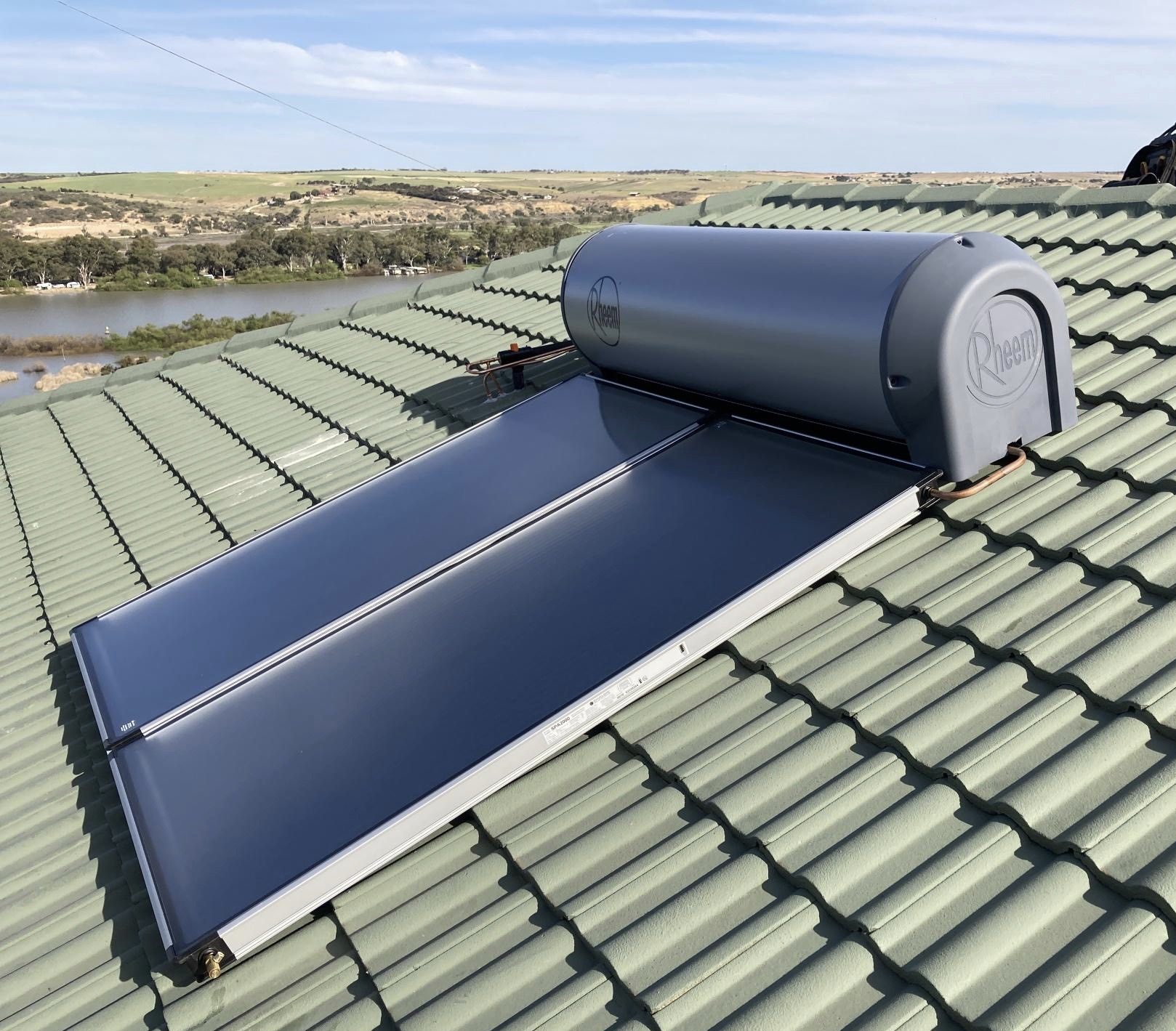 Solar Hot Water System On Roof